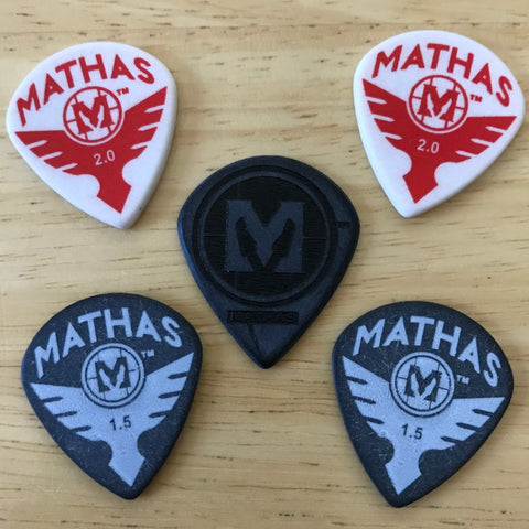 "Mathas Guitars - Guitar Picks - ""Jazz Jr XL"" - Sample Pack"