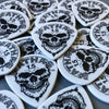 """Jazz Maxx"" - Mathas Guitars - Guitar Picks - ""SkullDuggery"" Logo - 1.5 mm - WHITE - Black Graphics"