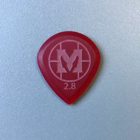 Mathas Guitars - Elite Series - Jazztor - 2.8 mm - Beveled Guitar Picks - Keep Your Pick Hand Strong - Red
