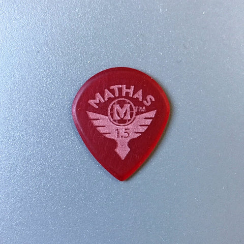 Mathas Guitars - Elite Series - Jazztor - 1.5 mm - Beveled Guitar Picks - Keep Your Pick Hand Strong - Red