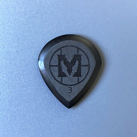 Mathas Guitars - Premium Series - Jazztor - 3.0 mm - Beveled Guitar Picks - Keep Your Pick Hand Strong - Black