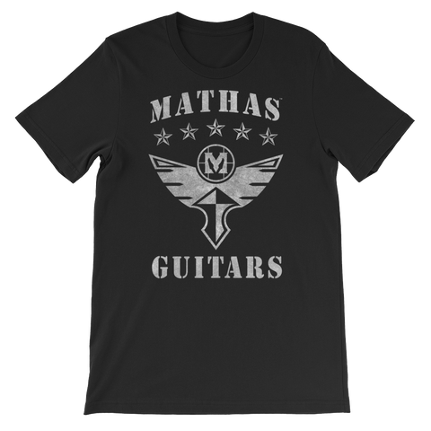 "Mathas Guitars - ""Stars & Flight"" DECO Logo (Granite) T-Shirt"
