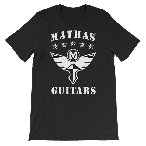 "Mathas Guitars - ""Stars & Flight""  Deco Logo T-Shirt"