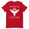 Mathas Guitars - Tee - T-Shirt - TShirt - Shirt - Streetwear - Live Sharp Shred Hard - Skül Sprt - Skullduggery - Flight To Fight