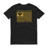 "Mathas Guitars ""Flight Flag - Premium Custom"" Logo (Gold Dust) - T-Shirt"