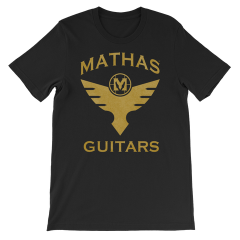 "Mathas Guitars ""Flight"" Logo (Gold Dust) - T-Shirt"