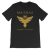 Mathas Guitars - Tee - T-Shirt - TShirt - Shirt - Streetwear - Live Sharp Shred Hard - Sküllanon - Skullduggery - Flight To Fight