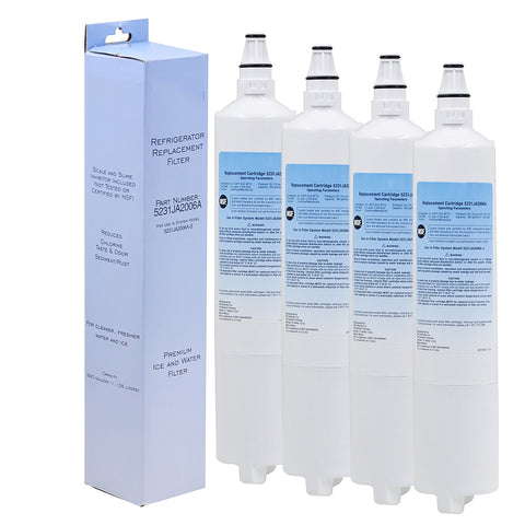 Refrigerator Filter - model: LG 5231JA2005A (4 Pack)