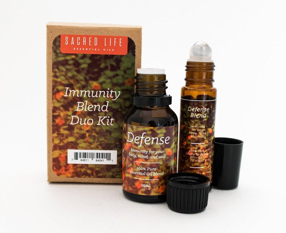 Immunity Duo Kit - Defense Essential Oil Blend Kit (10ml & 15ml)