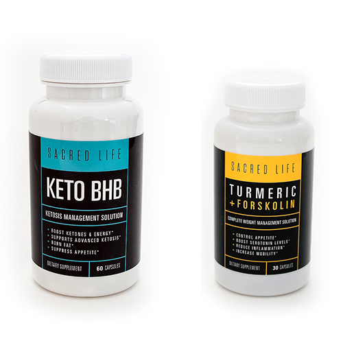 Keto BHB Supplement & Turmeric + Forskolin Supplement Combo Kit