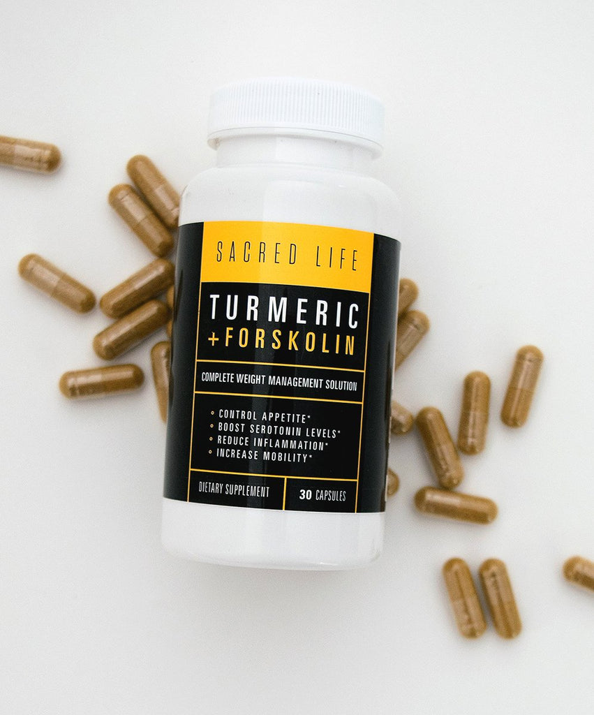 Turmeric + Forskolin Weight Management Supplement | 30 Capsules