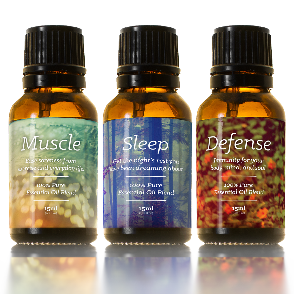 Top 3 Essential Oil Blends Kit | Sleep, Muscle, Defense
