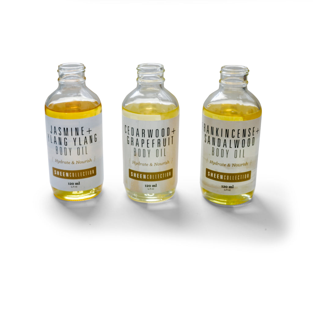 SHEEN Body Oil by Sacred Life | Complete 3-Pack