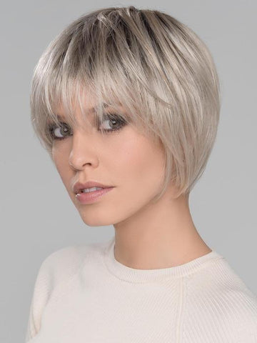 BEAM by ELLEN WILLE in LIGHT CHAMPAGNE ROOTED | Light Beige Blonde, Medium Honey Blonde, and Platinum Blonde blend with Dark Roots