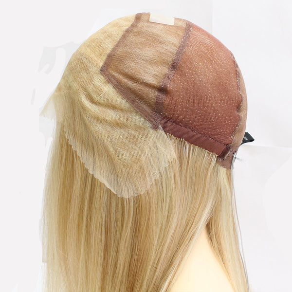 118 Jacquelyn: Hand-tied Full Lace French Top Wig construction side