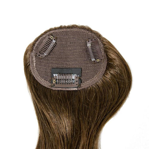 Human Hair Topper With 3 Clips