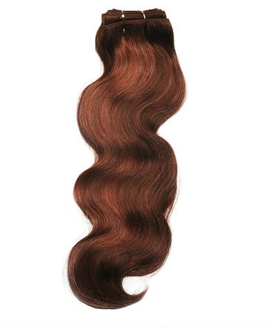 "16"" Wavy Super Remy Virgin Weft Human Hair Extensions"
