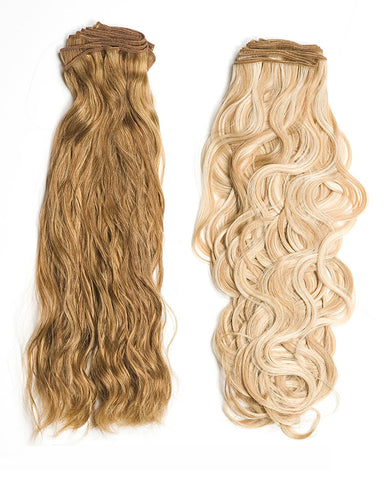 "18"" Super Remy French Curly Weft Human Hair Extension"