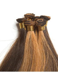 "18"" Remy Straight Hand-Tied Weft Human Hair Extension"