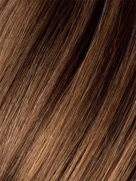 MOCCA ROOTED 830.12.27 | Medium Brown, Light Brown, and Light Auburn blend and Dark Roots