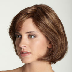 Short & sassy monofilament and hand-tied wig. Medical wig