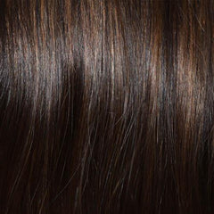 307 Front Line H/T: Human Hair Piece - Dark Ginger Brown - Human Hair Piece