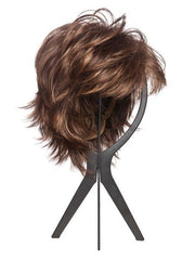 Wig Stand by BeautiMark - Style shown: Nori by Noriko in color Marble Brown