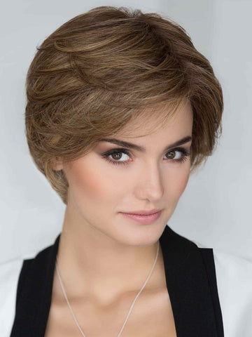 This perfectly designed short wig is full and can be styled straight or curly as it is made with Ellen Wille's innovative Prime Hair Blend
