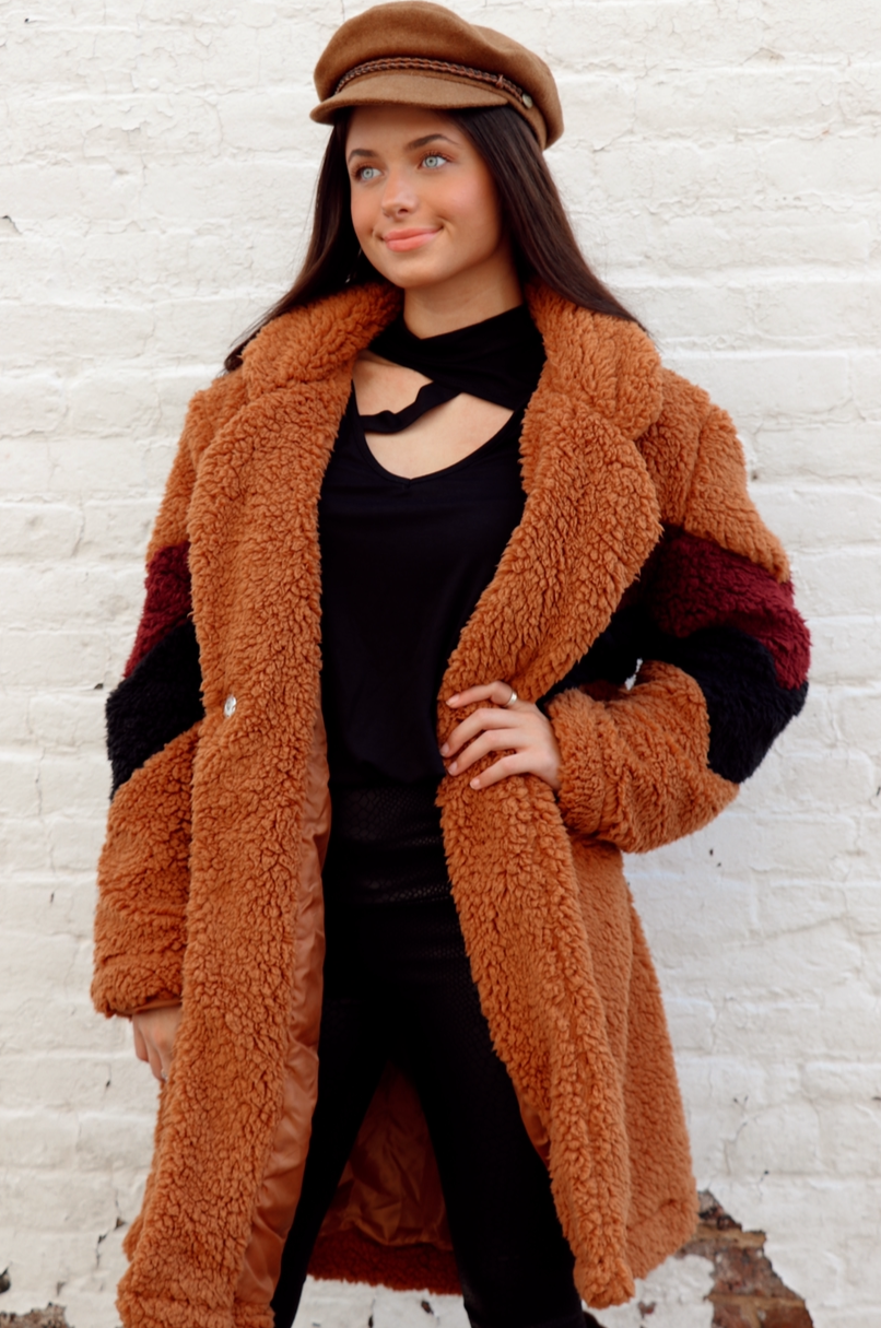 Striped Sherpa in Tawny