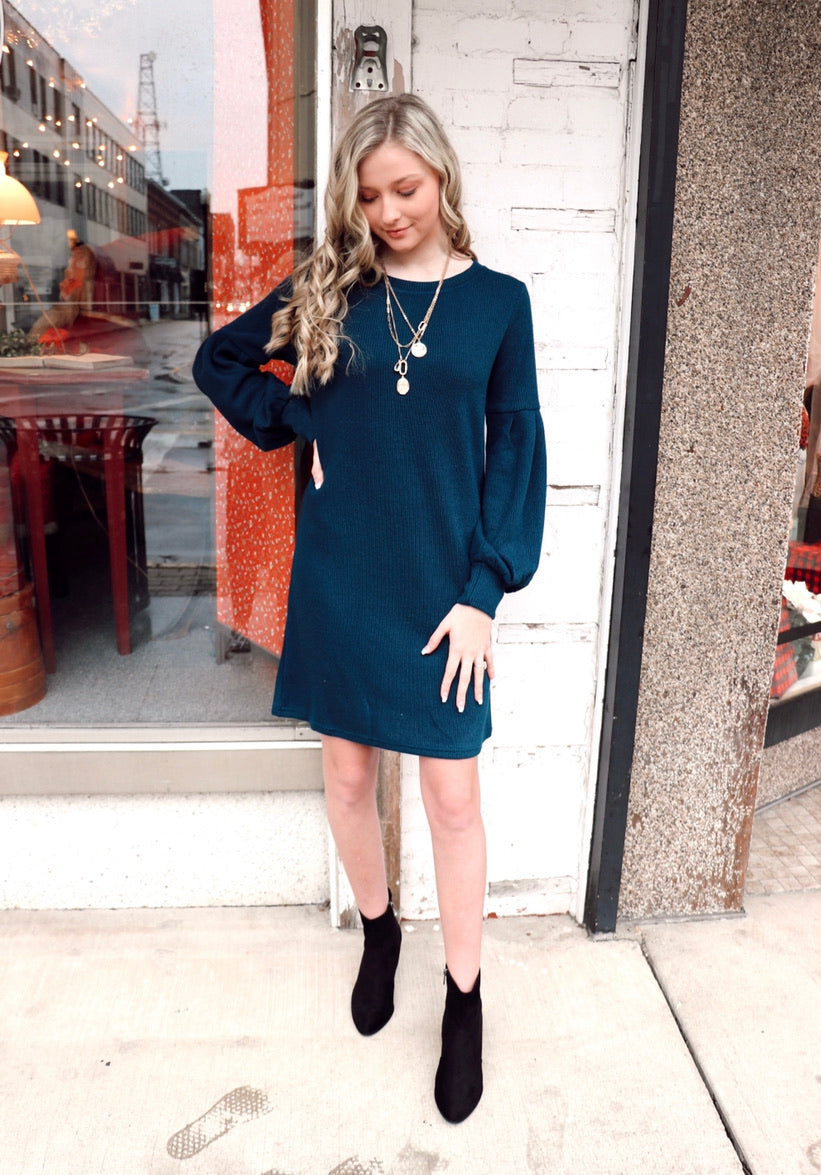 The Basic Dress in Teal