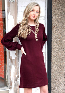 The Basic Dress in Burgundy