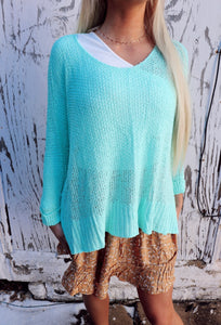 Layer Sweater in Mint