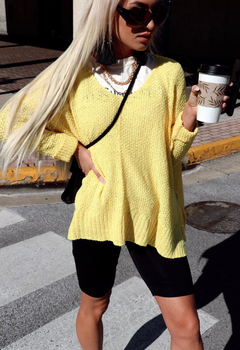 Layer Sweater in Yellow