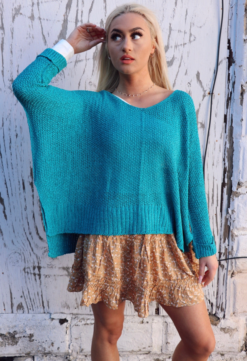 Layer Sweater in Teal