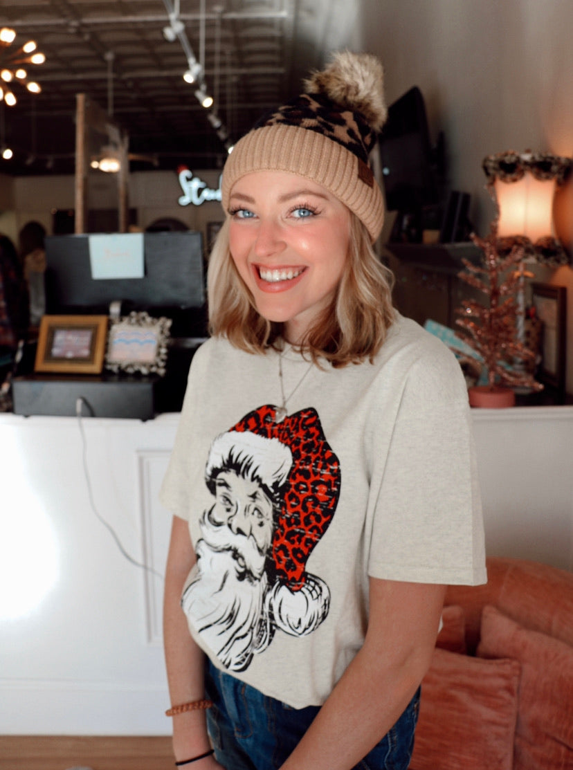The Cheetah C.C. Beanie in Tan
