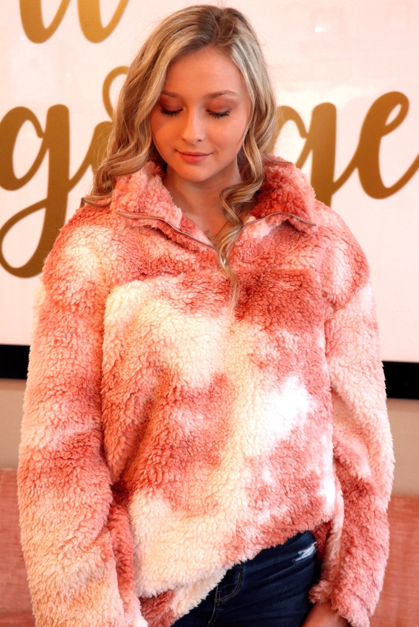 Marble Sherpa in Pink