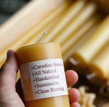 Natural Round Pillar Beeswax Candle