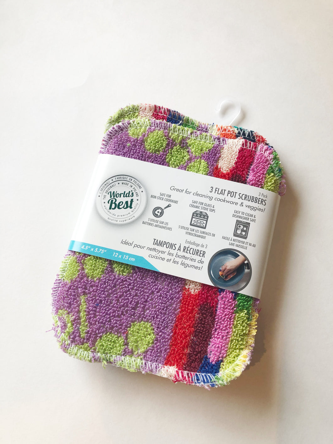 World's Best Pot Scrubbers (3 Flat)