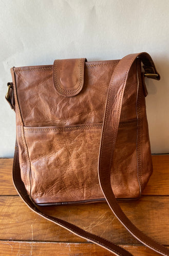 "Hand Crafted Leather 10"" Bucket Bag"