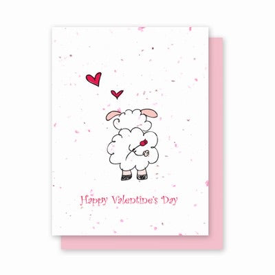 Green Field Paper Plantable Card - Valentine