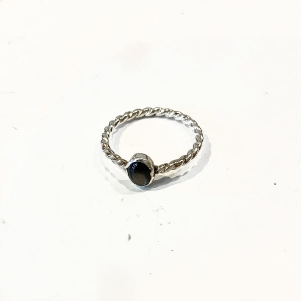 Slashpile Reclaimed Rings - Grey Glass