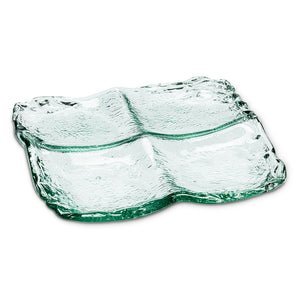 Abbott Recycled Glass Low 4-Section Tray