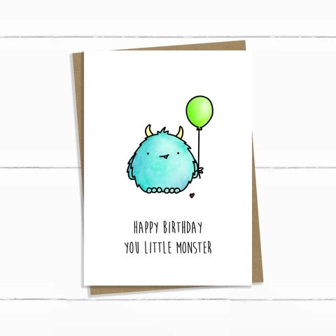 Baun Bon Card - Birthday (Little Monster)
