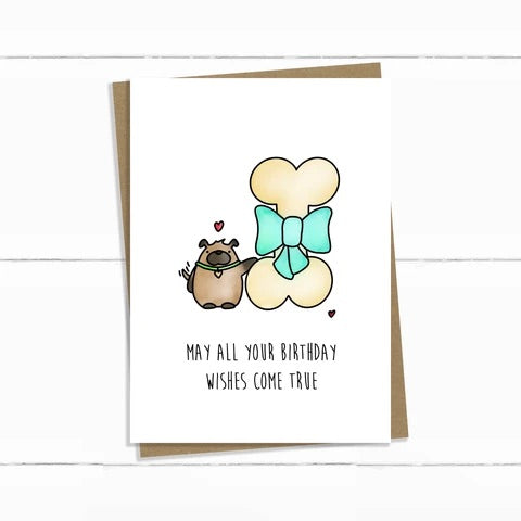 Baun Bon Card - Birthday (Dog & Bone)