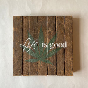Reclaimed Wood Sign 10x10""