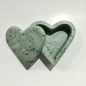 Soapstone Heart Box - Large