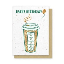 Green Field Paper Co Card - Birthday
