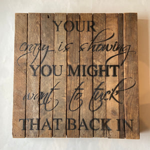 Reclaimed Wood Sign 14x14""