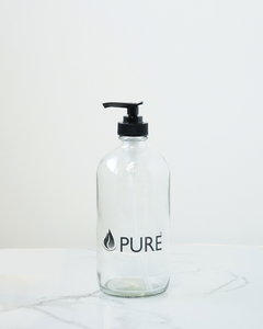 Pure Glass Jar with Pump