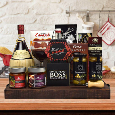 Branston Gourmet Gift Basket, With Wine